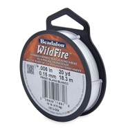 Wildfire Wire Beadalon 0.15mm Frost white