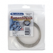 Remembrance memory wire extra large Armbänder Beadalon Bright Stainless Steel