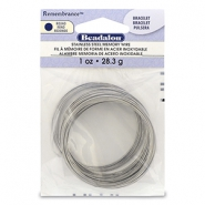 Remembrance memory wire Halskette Beadalon Bright Stainless Steel