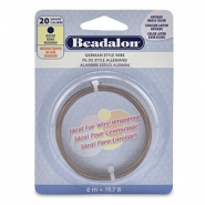German Style Wire Beadalon 20Gauge round Antique Brass