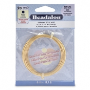 German Style Wire Beadalon 20Gauge round Gold