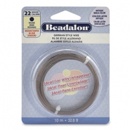 German Style Wire Beadalon 22Gauge round Antique Brass