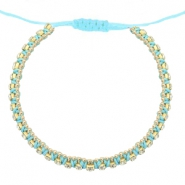 Armband Strass Light turquoise blue-crystal