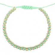 Armband Strass Light turquoise green-crystal