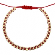 Armband Strass Cherry red-crystal