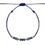 Armband Facett Dark blue-white silver