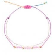 Armband Facett Multicolour-crystal white light gold