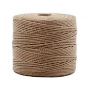 Nylon S-Lon Kordel 0.6mm Medium brown