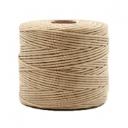Nylon S-Lon Kordel 0.6mm Beige brown