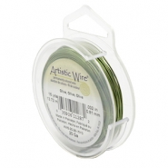 Artistic Wire 20 Gauge Olive green