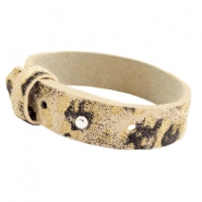 Cuoio Armband 15mm Leder für 20mm Cabochon Mellow buff beige Panther