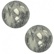 12 mm classic Polaris Elements Cabochon Rockstar Greenish grey
