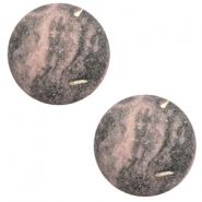 12 mm classic Polaris Elements Cabochon Rockstar Powder pink-grey