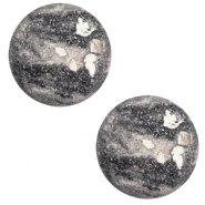 12 mm classic Polaris Elements Cabochon Rockstar Cream white-grey