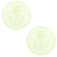 12 mm flach Polaris Elements Cabochon Anker Relaxing green