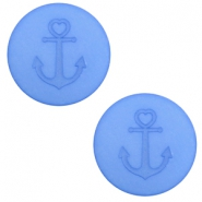 12 mm flach Polaris Elements Cabochon Anker River blue