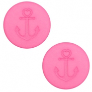 20 mm flach Polaris Elements Cabochon Anker Peonia pink