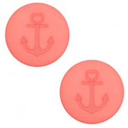 12 mm flach Polaris Elements Cabochon Anker Salmon rose