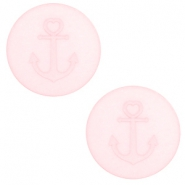 12 mm flach Polaris Elements Cabochon Anker Whisper pink