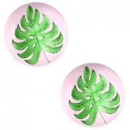 Cabochons Basic 20mm Tropical leaf-palace rose