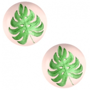Cabochons Basic 12mm Tropical leaf-creamy peach