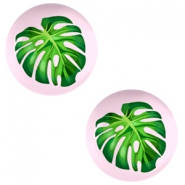Cabochons Basic 12mm Tropical palm leaf-palace rose