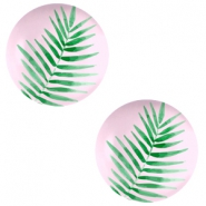 Cabochons Basic 20mm Fern leaf-palace rose