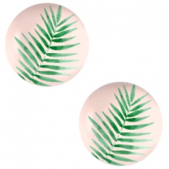 Cabochons Basic 12mm Fern leaf-creamy peach