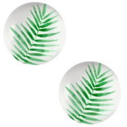 Cabochons Basic 12mm Fern leaf-light grey