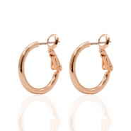 DQ Ohrringe Creolen 18mm Rose gold beschichtet
