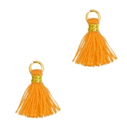 Quaste Perlen 1cm Gold-Flame orange