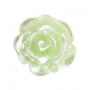 Perlen Rosen 10mm Celery ice green-silber coating