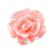 Perlen Rosen 10mm Salmon rose-silber coating