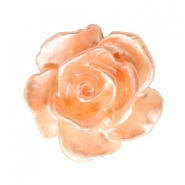Perlen Rosen 10mm Weiss-fresh peach pearl shine