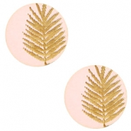Cabochon Holz Farn 12mm Light pink