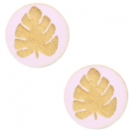 Cabochon Holz Blatt 12mm Light lavender purple