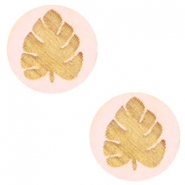 Cabochon Holz Blatt 12mm Light pink