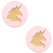 Cabochon Holz Unicorn 12mm Dark pink