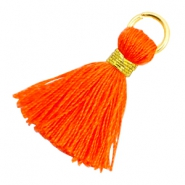 Quaste Perlen 1.8cm Gold-Neon orange