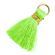Quaste Perlen 1.8cm Gold-Bright neon green