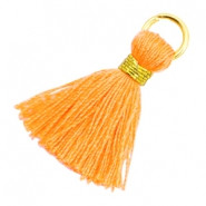 Quaste Perlen 1.8cm Gold-Fire orange