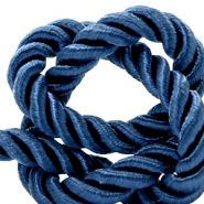 Trendy Kordel 10 mm Weave Royal blue