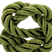 Trendy Kordel 10 mm Weave Olive green