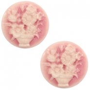 Cabochons Basic Camee 20mm Blumenstrauss Vintage pink-off white