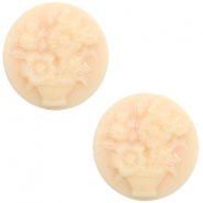 Cabochons Basic Camee 20mm Blumenstrauss Light peach-beige