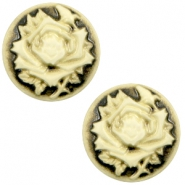 Cabochons Basic Camee 20mm Rose Black-antique gold