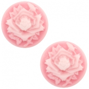 Cabochons Basic Camee 12mm Rose Pink-white