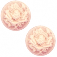 Cabochons Basic Camee 12mm Rose Vintage rose-antique gold