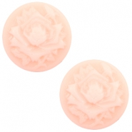 Cabochons Basic Camee 12mm Rose Light pink-off white