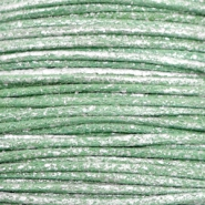 Kordel aus Wachs metallic 1.0mm Leaf green